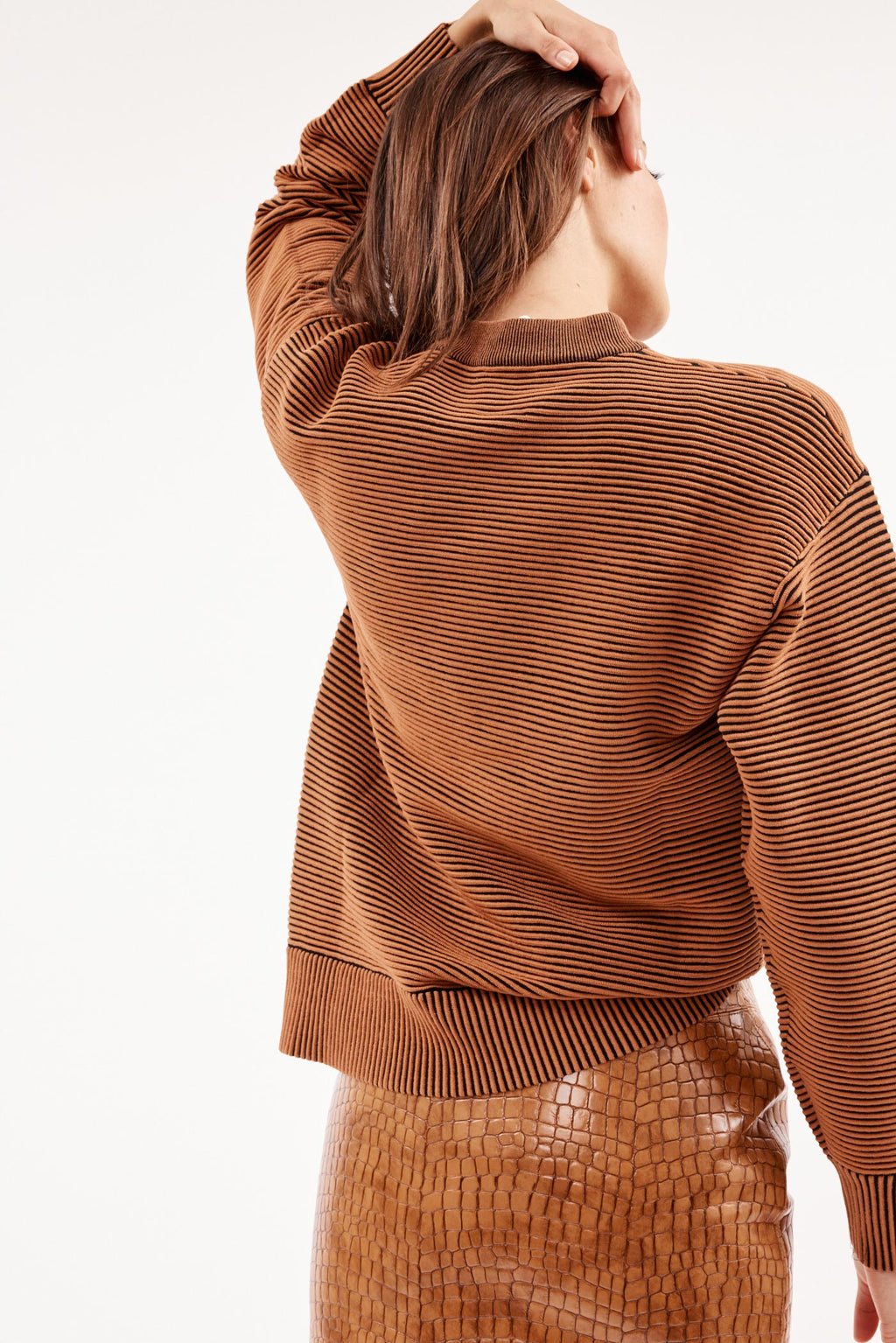 Sonny Crew Neck Bronze Sweater