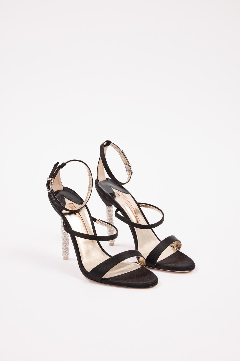 Rosalind Black Satin Heel