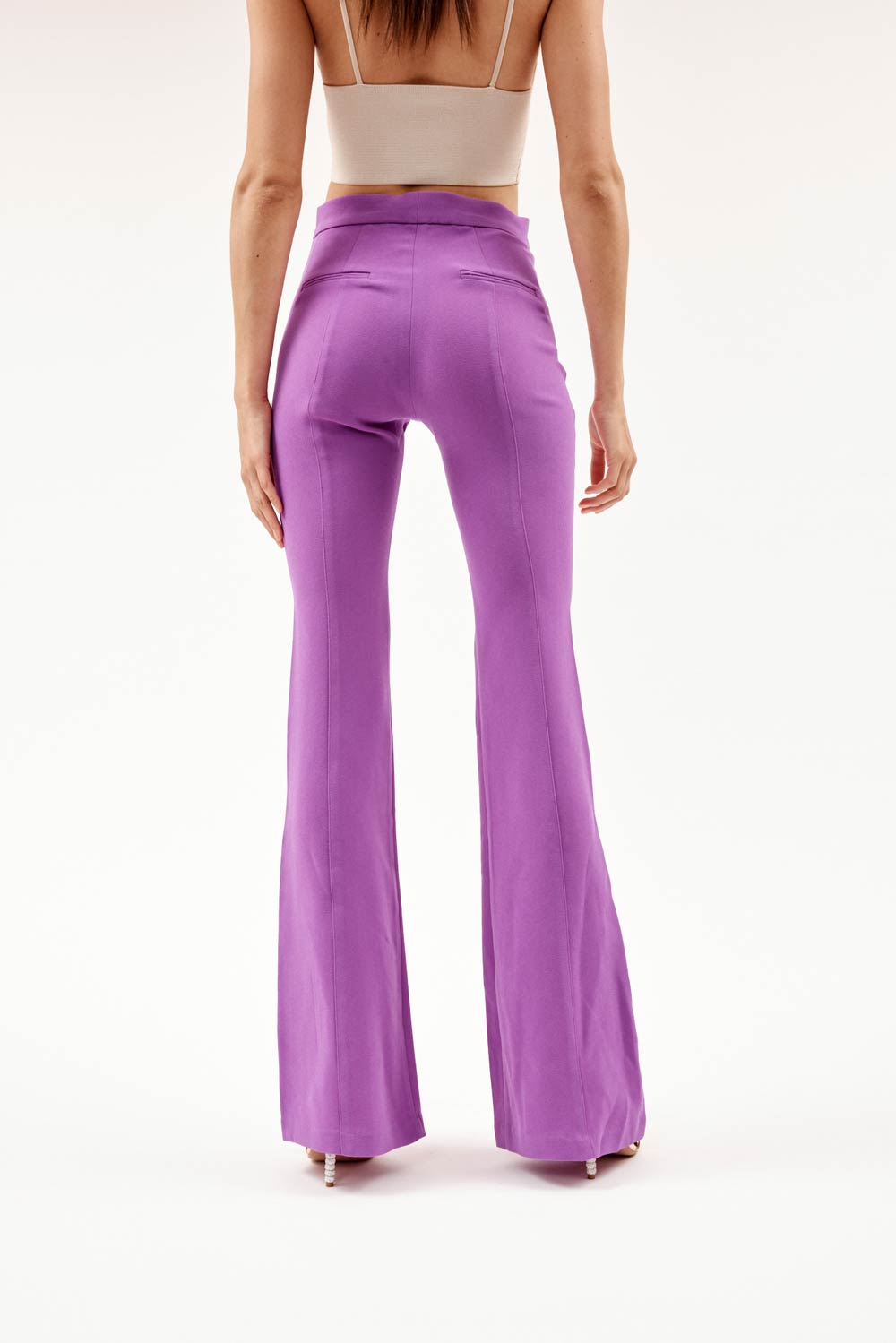 Rene Flared Purple Pants
