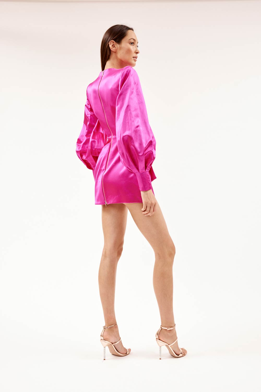 Corine Pink Silk Dress