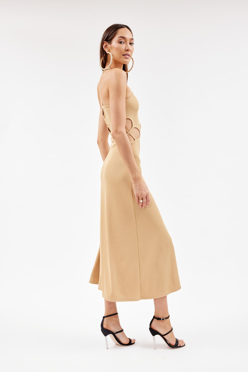 Looped Tan Dress