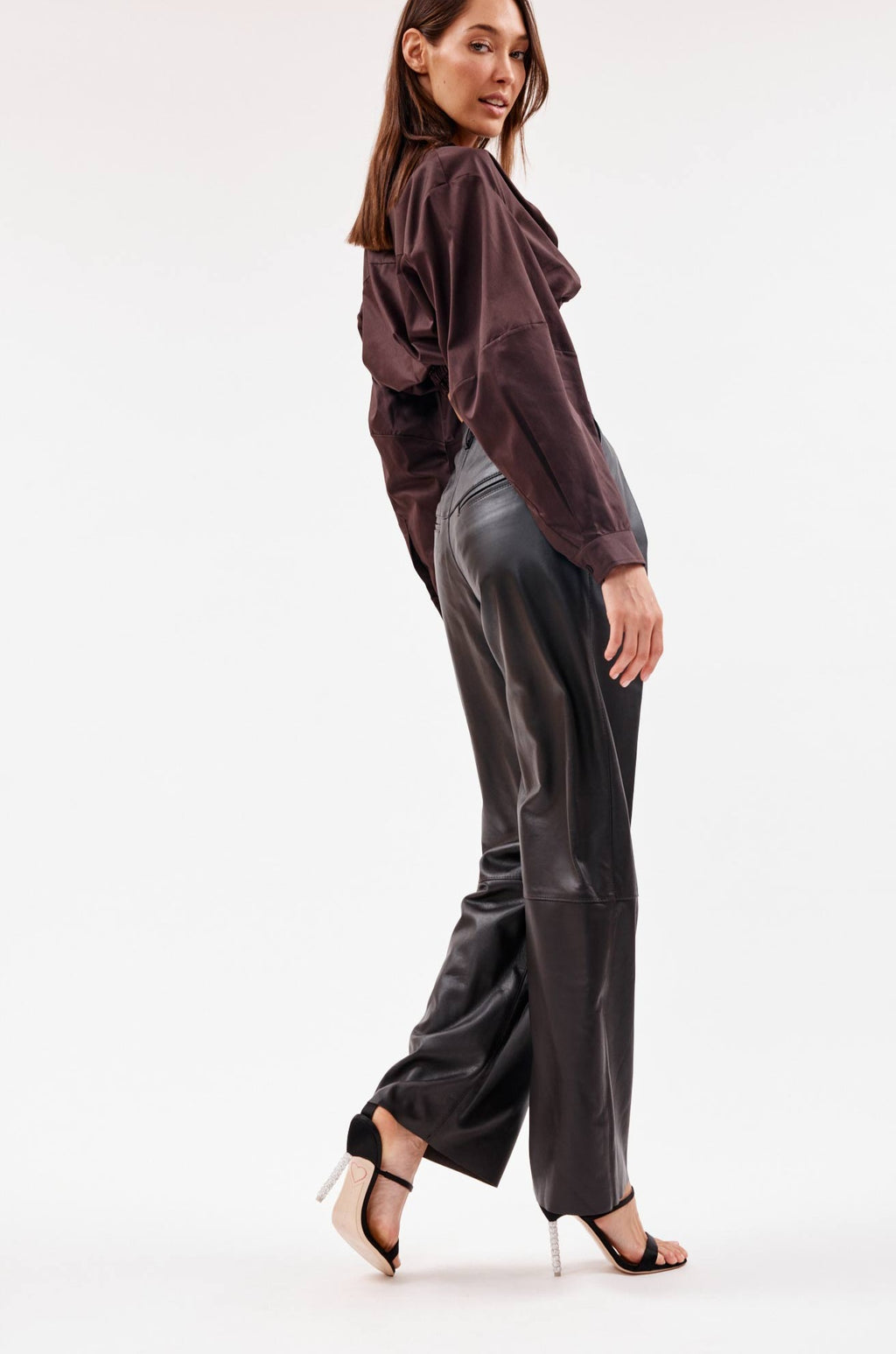 Leather Brown Boy Pant