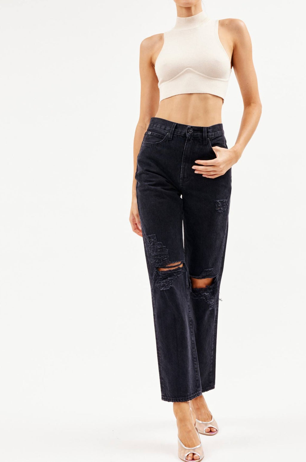 London Shadow Ridge Destructed Jean