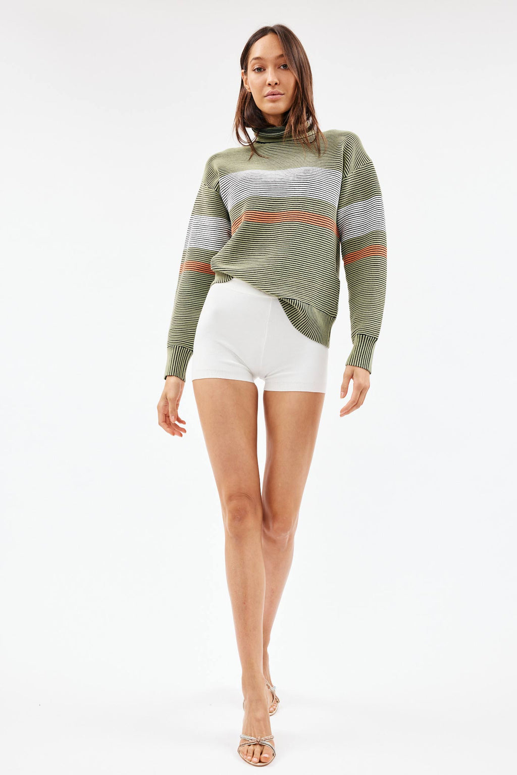 Retro Rib Sage Sweater