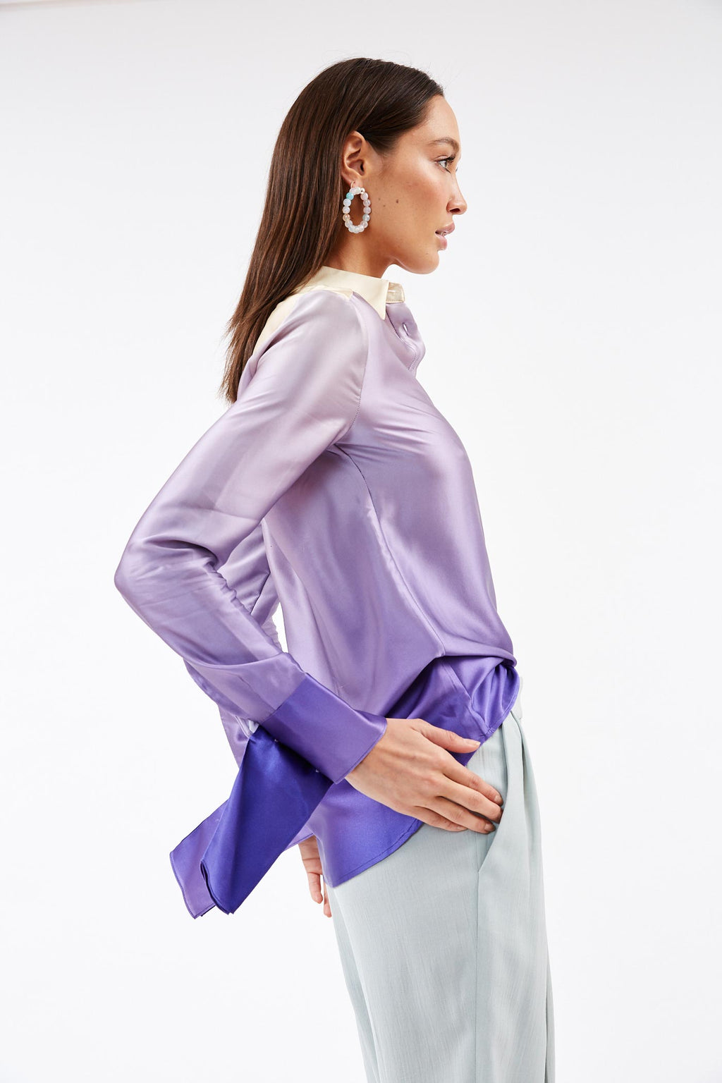 Button Up Gradient Shirt