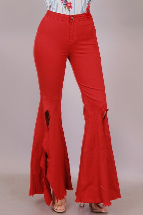 Ruby Red High Waist Pants