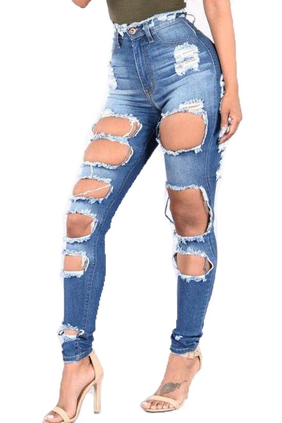 Only the Bold Survive Denim Pants