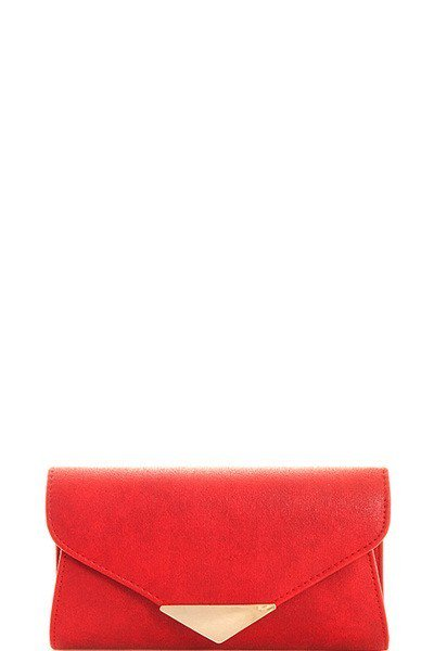 Red & Gold Arrow Clutch