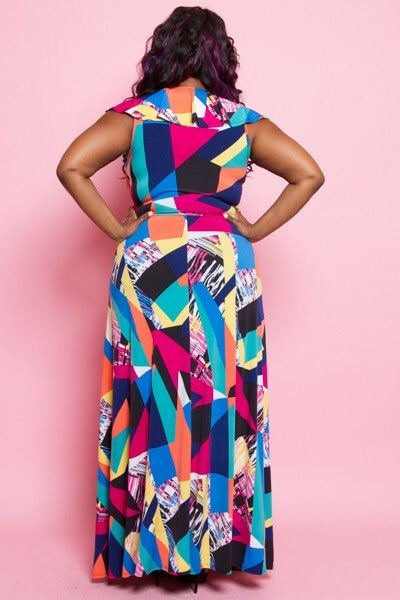 Work of Art Maxi Dress