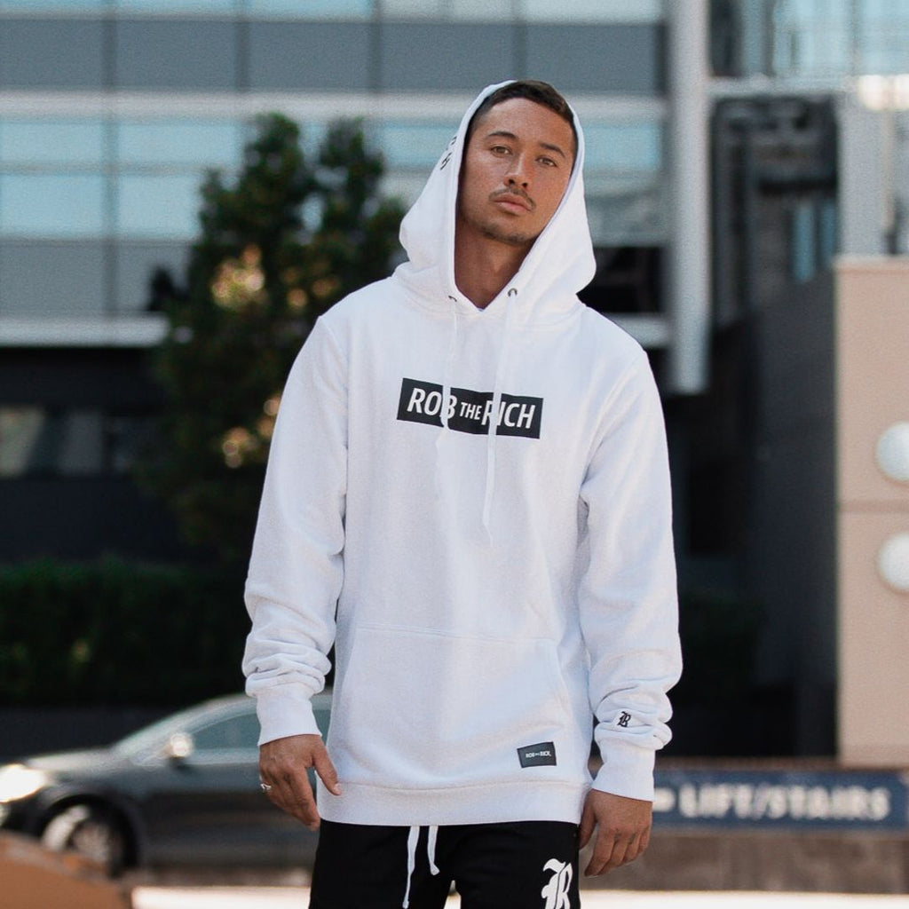 Box Office Hoodie - White (XXXL & XXXXL Only)