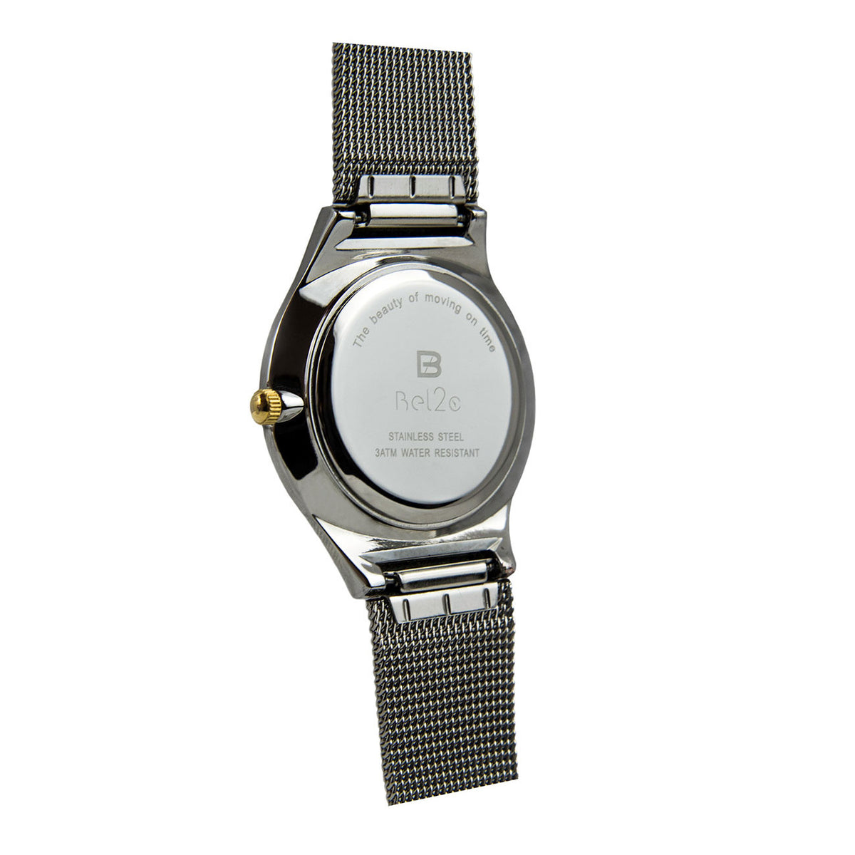 The back case of Bel2c Lagom unisex watch