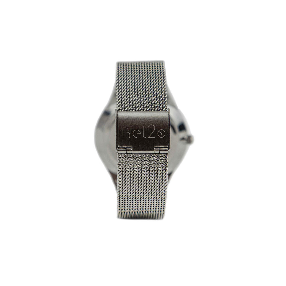 The buckle of Bel2c Lagom silver watch