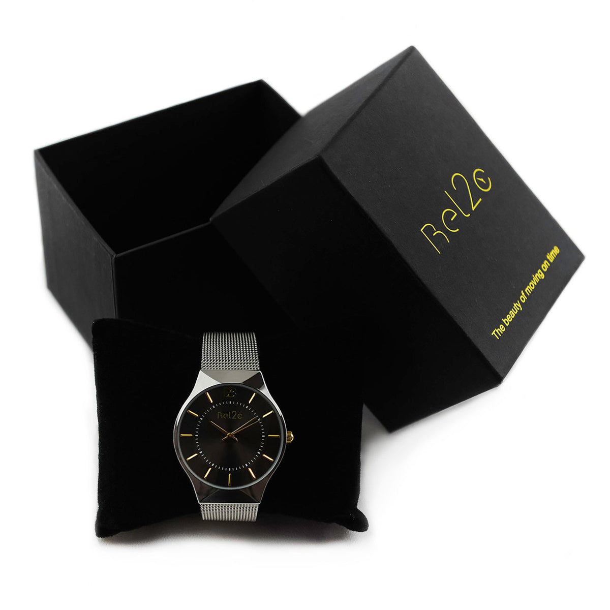 Cool gift box of Bel2c lagom black timepiece