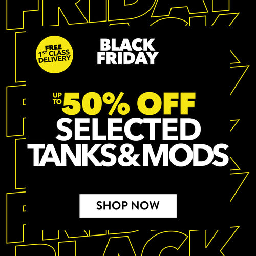 Up to 50% off selected Tanks & Mods