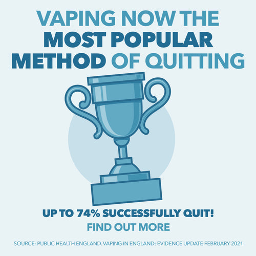 Vaping now the most popular method of quitting