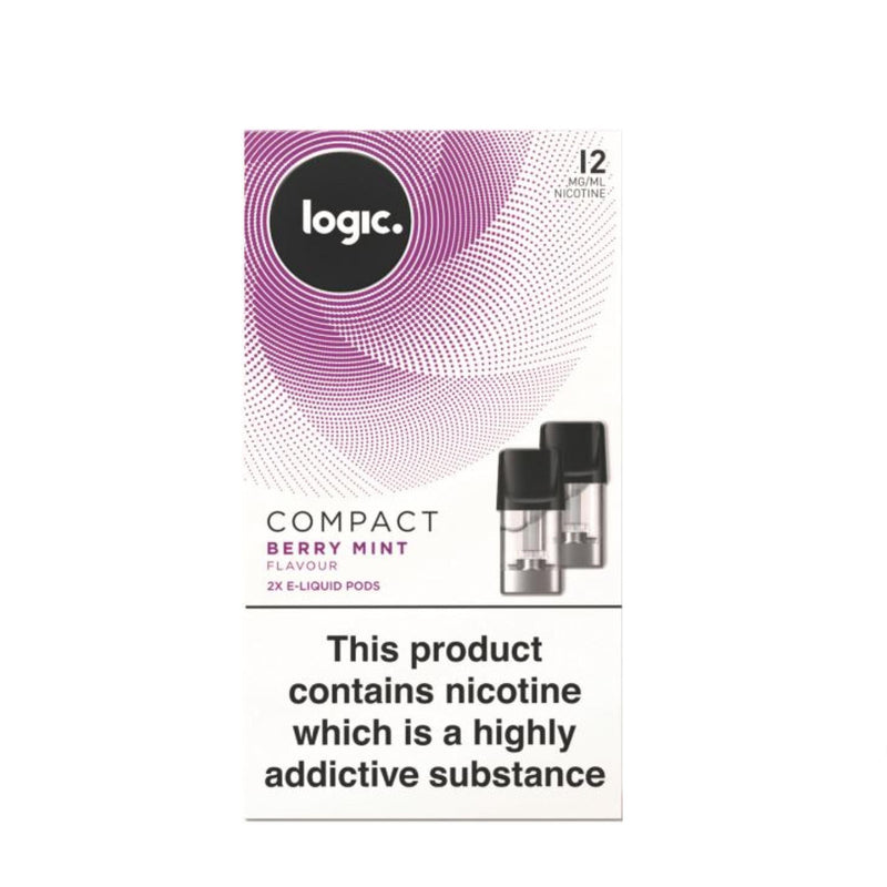 Logic Compact Device Pods (Pack of 2) - Berry Mint 12mg