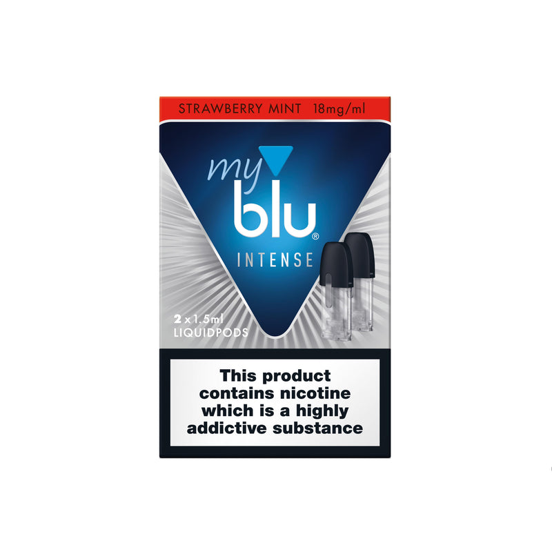 Myblu Liquid Pod Strawberry Mint Nic Salt Intense - (Pack of 2)