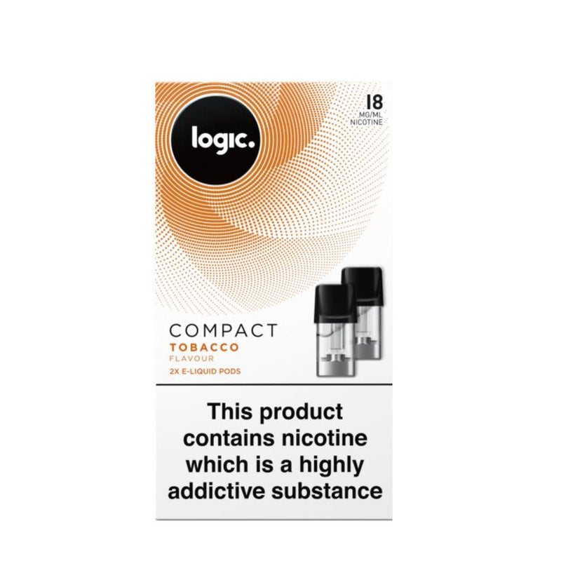 Logic Compact Device Pods (Pack of 2) - Tobacco 18mg