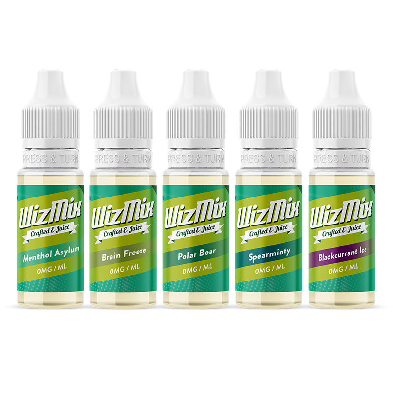 Wizmix Menthol E-Liquid Bundle - 100ml