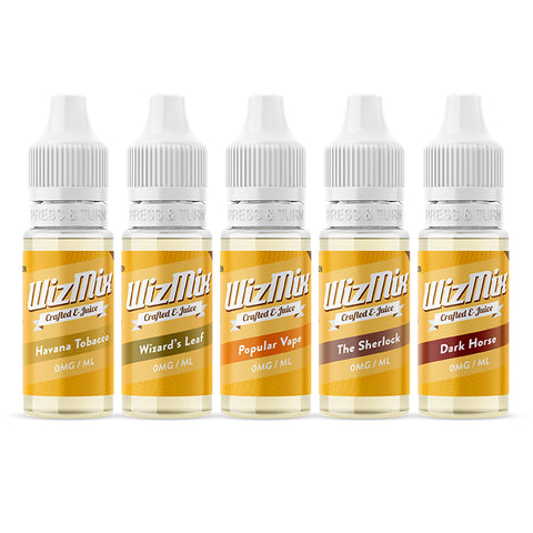 Wizmix Tobacco E-Liquid Bundle - 10x10ml