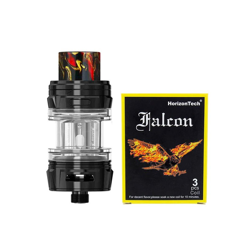 HorizonTech Falcon King Mini Tank - carbon black and coils pack