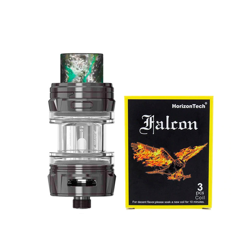 HorizonTech Falcon King Mini Tank - gunmetal and coils pack