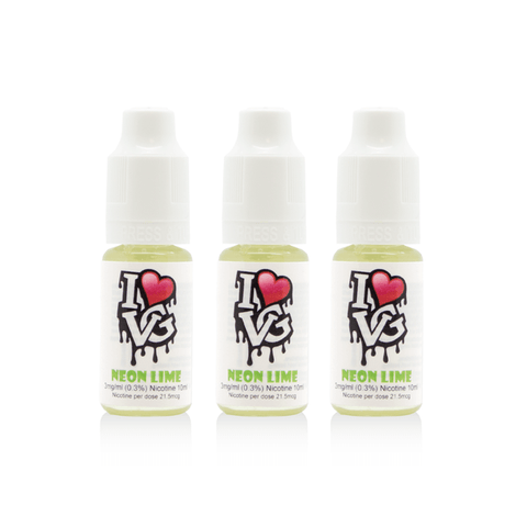 I Love VG - Neon Lime - 3 x 10ml