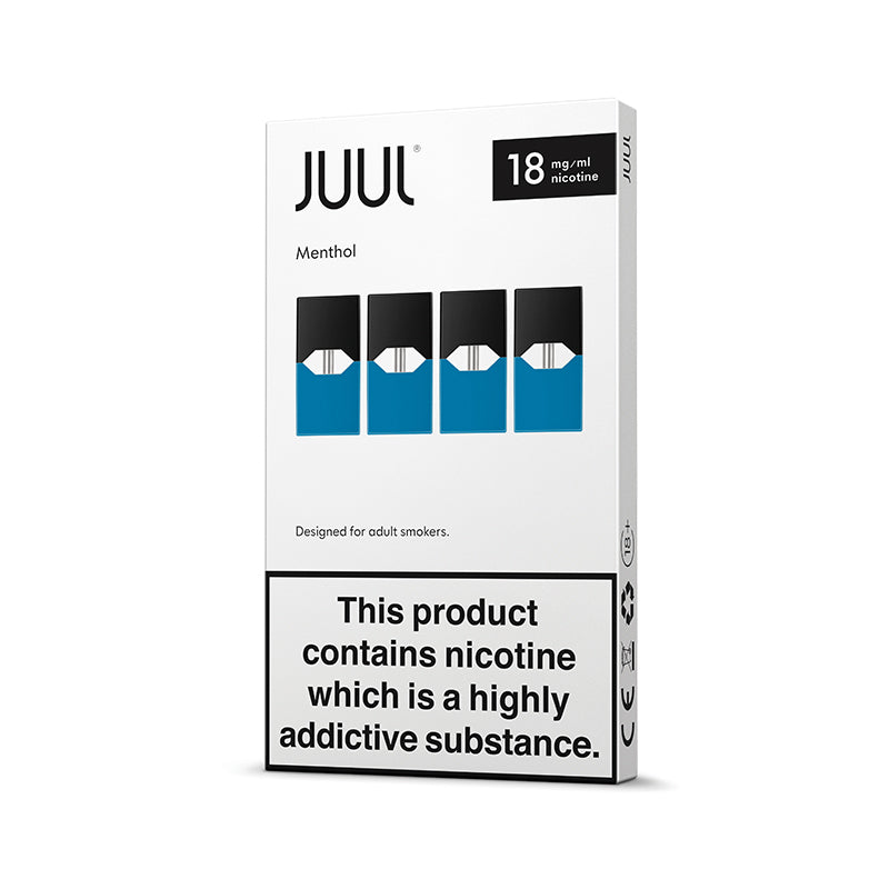 JUUL Menthol Pods 18mg (Pack of 4)