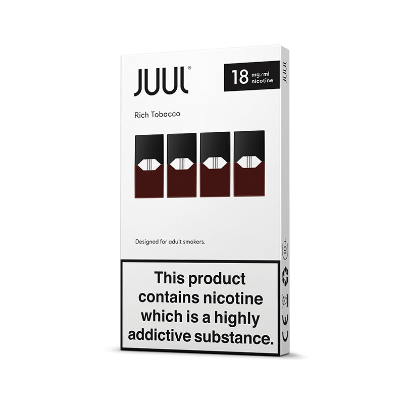 JUUL Rich Tobacco Pods 18mg (Pack of 4)