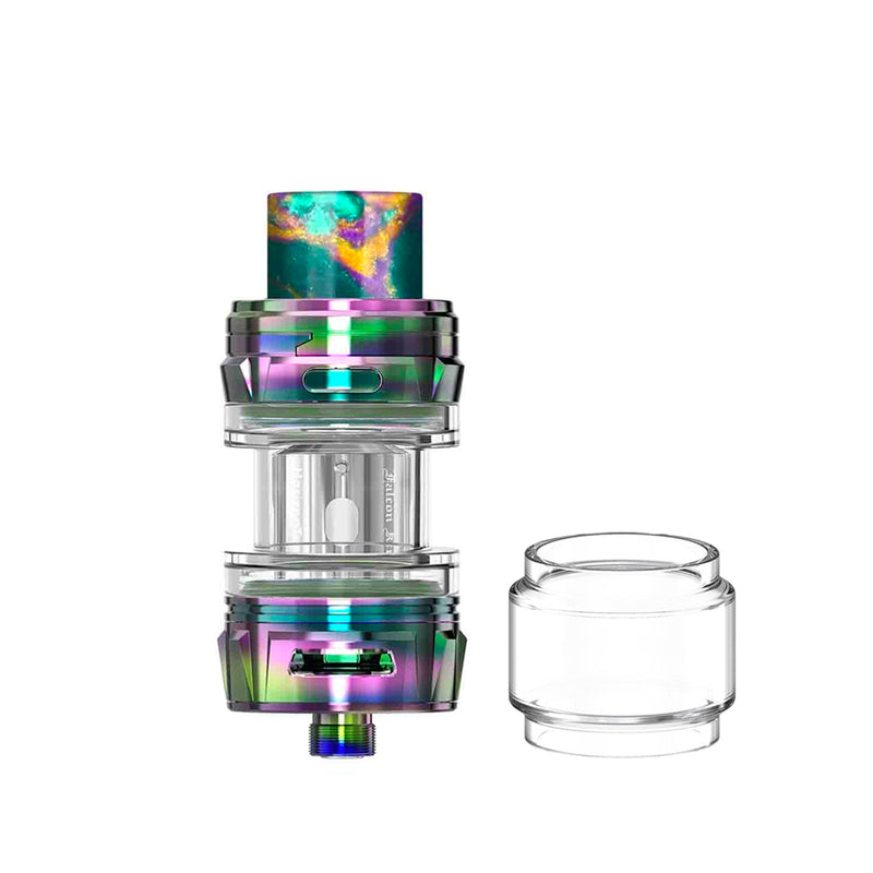 HorizonTech Falcon King Mini Tank - rainbow and bubble glass