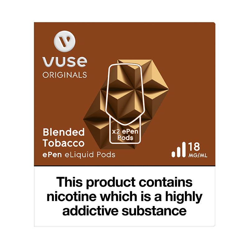 Vuse ePen Caps Blended Tobacco - 18mg