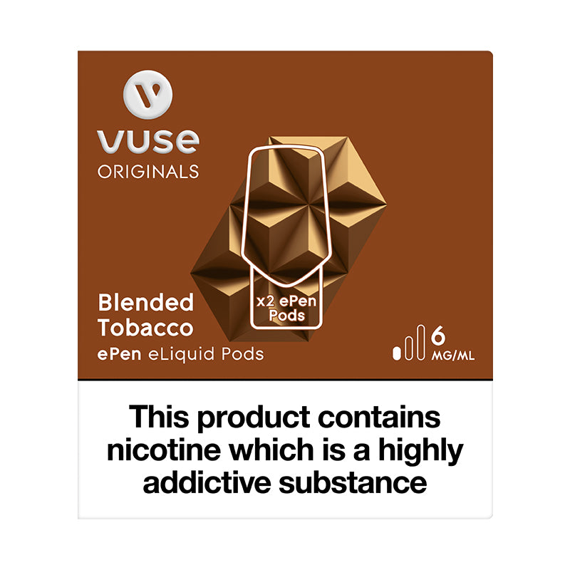 Vuse ePen Caps Blended Tobacco - 6mg