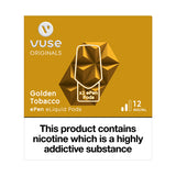 Vuse ePen Caps Golden Tobacco - 12mg