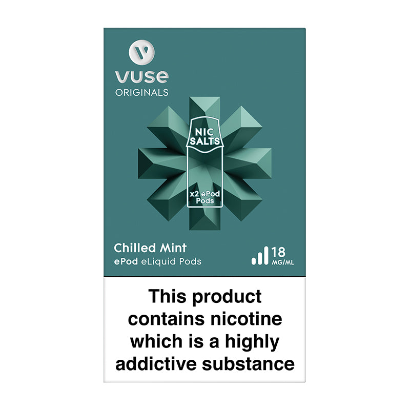 Vuse ePod 2 Cartridges vPro Chilled Mint - 18mg