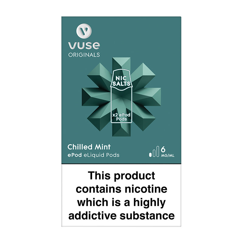 Vuse ePod 2 Cartridges vPro Chilled Mint - 6mg