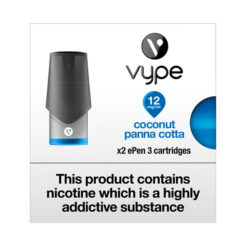Vype ePen 3 Pods Coconut Panna Cotta (Pack of 2) - 12mg