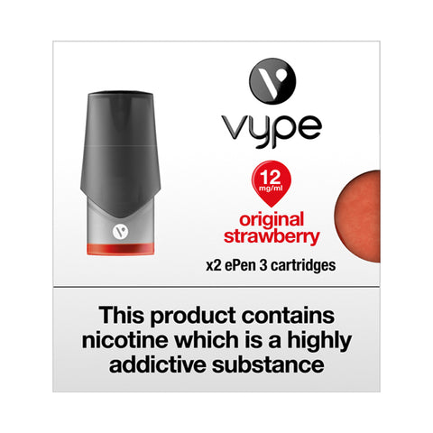 Vype ePen 3 Original Strawberry Pods (Pack of 2)
