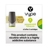 Vype ePen 3 vPro Peppermint Tobacco Pods (Pack of 2)