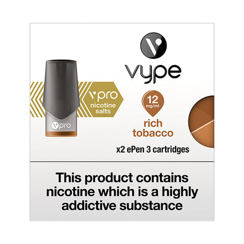 Vype ePen 3 vPro Rich Tobacco Pods (Pack of 2)