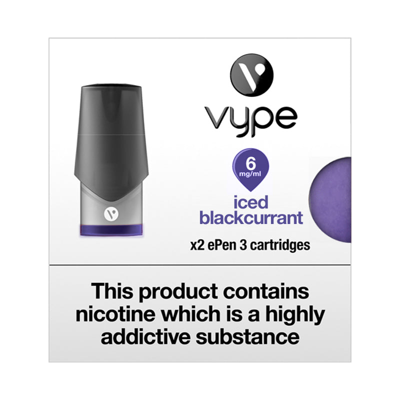 Vype ePen 3 Iced Blackcurrant Pods (Pack of 2)