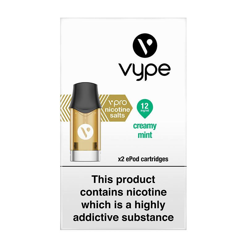 Vype ePod vPro Creamy Mint Cartridges (Pack of 2)