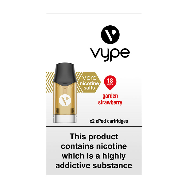 Vype ePod vPro Garden Strawberry Cartridges (Pack of 2)