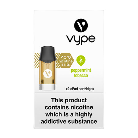 Vype ePod vPro Peppermint Tobacco Cartridges (Pack of 2)