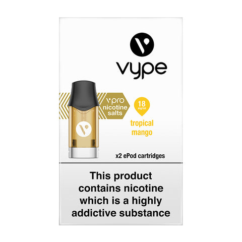 Vype ePod vPro Tropical Mango / Just Mango Cartridges (Pack of 2)