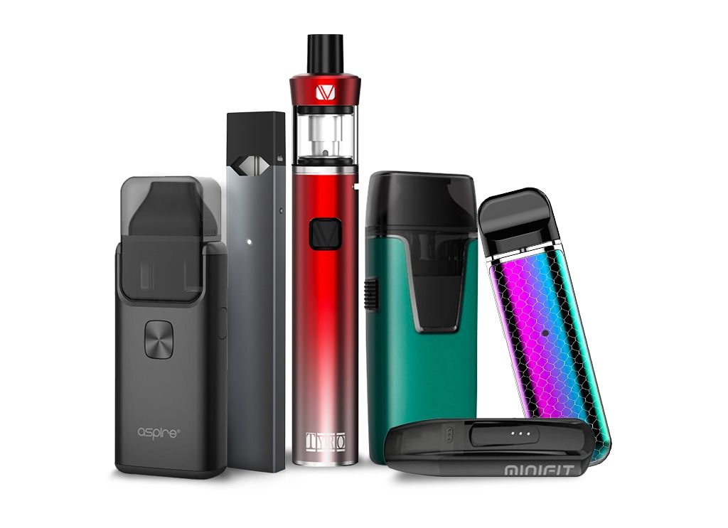 Group of starter vape kits