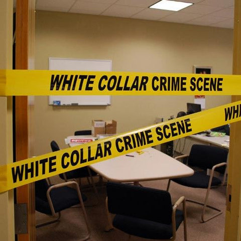 WHITE COLLAR CRIME SCENE TAPE
