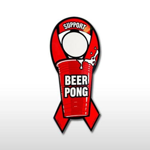 SUPPORT BEER PONG MAGNET