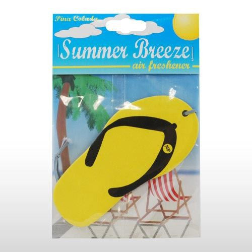 YELLOW FLIP FLOPS CAR AIR FRESHENER