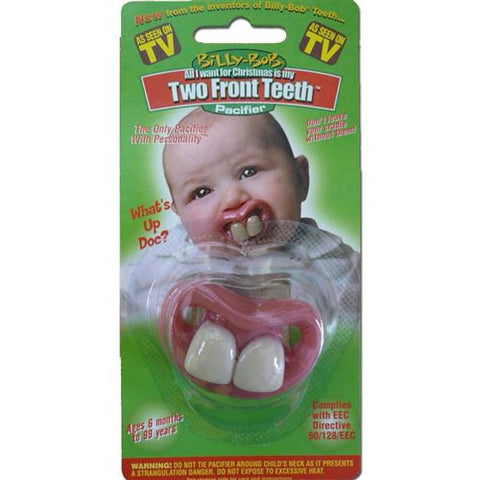 BILLY BOB TWO FRONT TEETH PACIFIER
