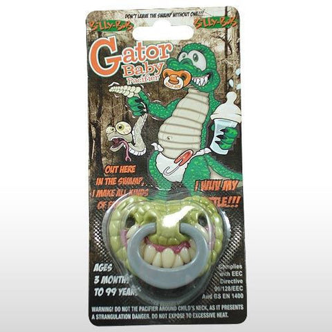 BILLY BOB GATOR BABY PACIFIER